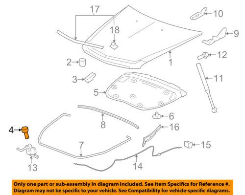 2010-2016 CADILLAC SRX FRONT RUBBER HOOD BUMPER CUSHION NEW GM #  15931787
