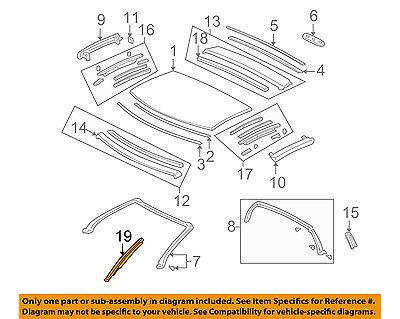 Acura HONDA OEM 95-03 NSX Roof-Drip Molding Left 72465SL0T01ZZ