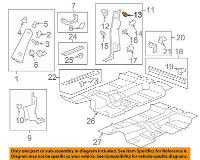 GM OEM Interior-Lock Pillar Trim Bolt 11609465