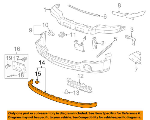 gmc gm oem 05 06 sierra 1500 front bumper extension panel 10386200