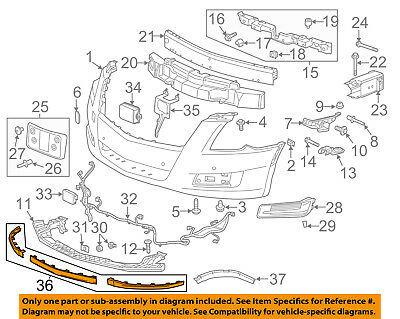 Cadillac GM OEM 13-16 XTS Front Bumper-Lower Spoiler Chin Lip Splitter 23440976