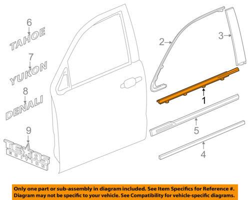 Cadillac GM OEM XT5-Door Window Sweep-Belt Molding Weatherstrip Left 84175956