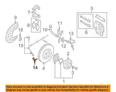 AUDI OEM 04-15 A8 Quattro ABS Anti-lock Brakes-Front Speed Sensor 4E0927804F