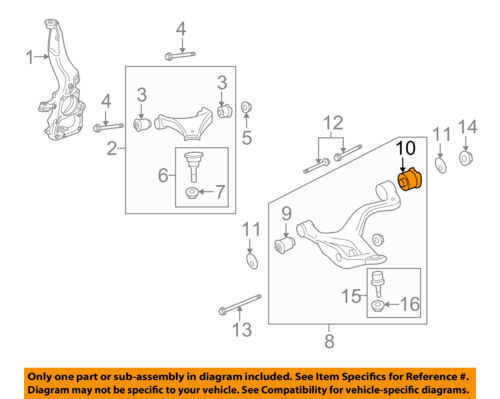 LANDROVER DISCOVERY 3 /& 4 FRONT SUSPENSION LOWER ARM REAR BUSH LR073366