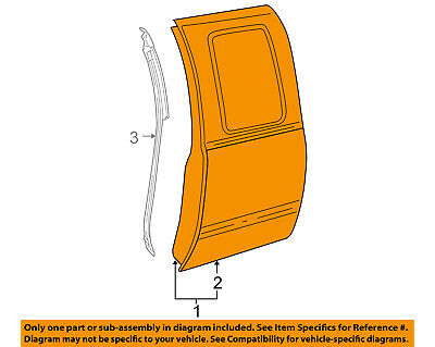 GM OEM Rear Door-Shell Frame Panel Left 89024758