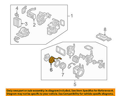 Acura HONDA OEM 91-05 NSX 3.0L-V6 Evaporator Heater-Motor 79310SL0A02