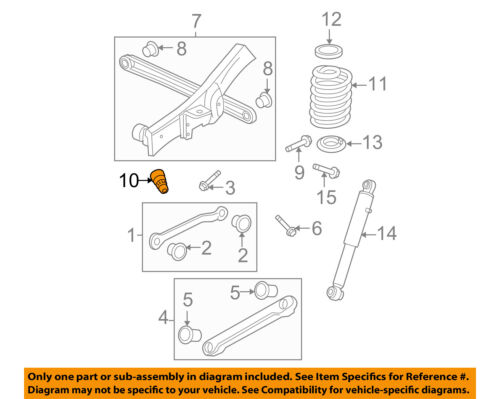 Shock Absorber Buffer,Rubber Suspension Bumper Control Arm Bump Stop 15039397 Fits for Suburban