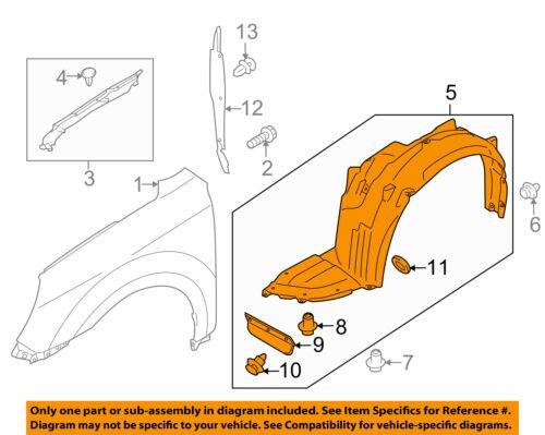 OEM NEW 2010-2014 Subaru Legacy Front Right Side Fender Splash Shield 59120AJ00A