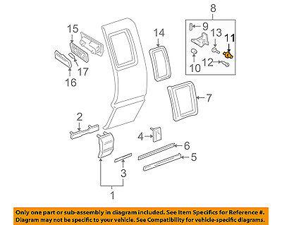 Vintage GM 12337853 hinge screw lot of 10  NOS OEM