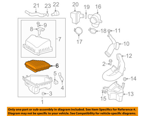[DIAGRAM_1CA]  Pontiac GM OEM 09-10 Vibe Engine-Air Filter Element 88975799   eBay   Vibe Engine Diagram      eBay