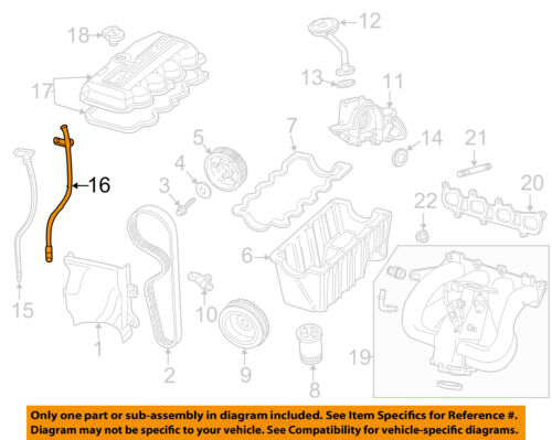FORD OEM 02-04 Focus Engine Parts-Oil Tube 3M5Z6754AA | eBayeBay