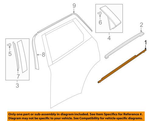 Door-Window Sweep Belt Molding Felt Weatherstrip Right 7571121030