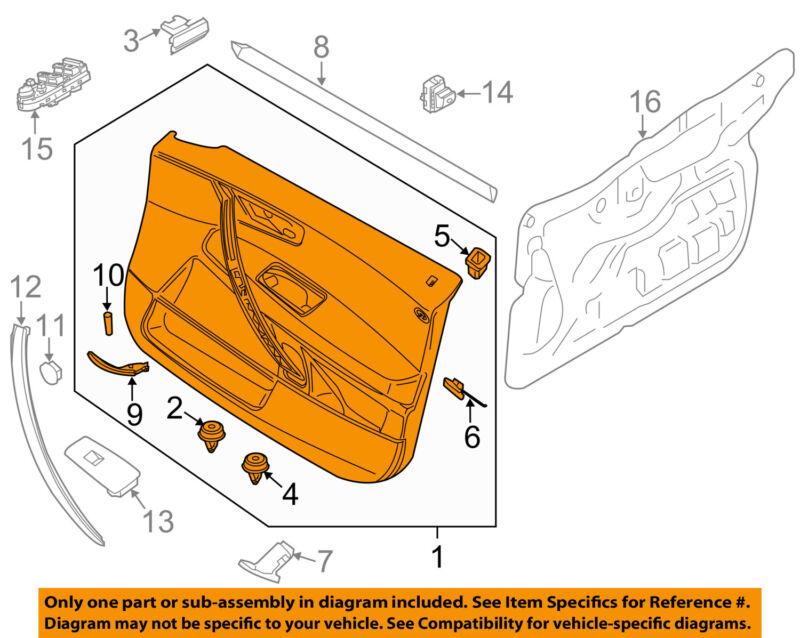 Bmw Oem 2006 X3 Front Door-interior Trim Panel Left 51413418837