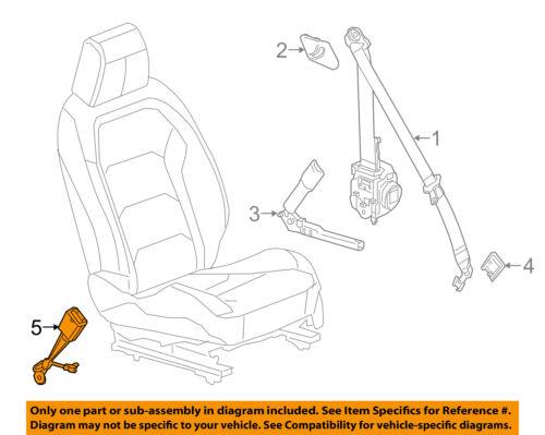 Chevrolet GM OEM 2018 Camaro Front-Seat Belt Assembly Left 19355853