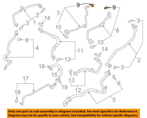 PORSCHE OEM 14-16 Panamera Turbocharger Turbo-Pressure Line O-ring 99970761340