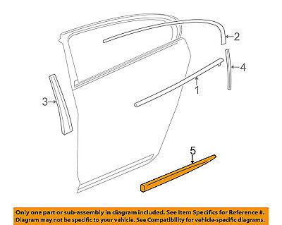 Buick GM OEM 10-16 LaCrosse REAR DOOR-Body Side Molding Right 20902220