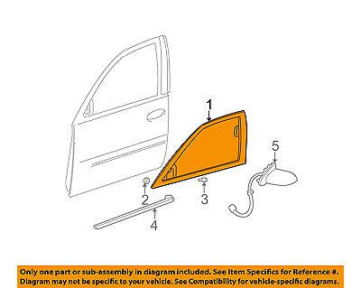 Cadillac GM OEM 00-05 DeVille Front Door-Window Molding Right 22798072
