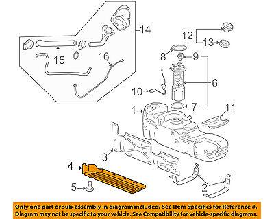 GM OEM Fuel System-Lower Shield 20905672