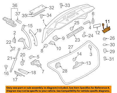 AUDI OEM 09-16 Q5 Liftgate Tail Tailgate Trunk-Switch 5N0827566T
