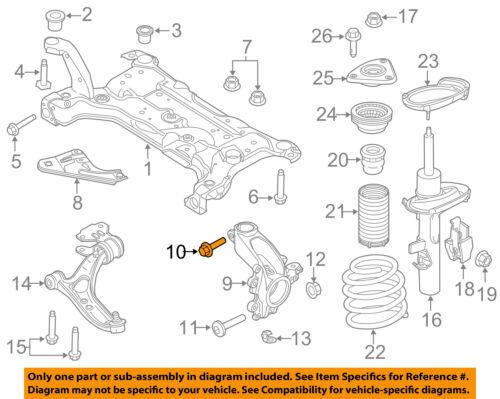 FORD OEM Front Suspension-Mount Bolt W714125S442