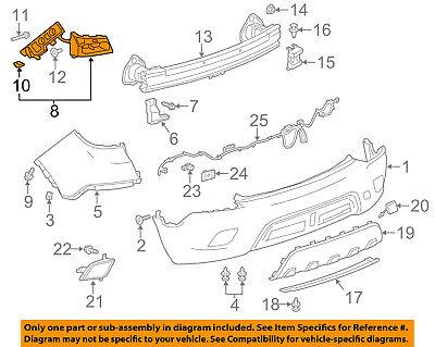 Buick GM OEM 13-17 Encore Rear Bumper-Guide Bracket Left 95256261