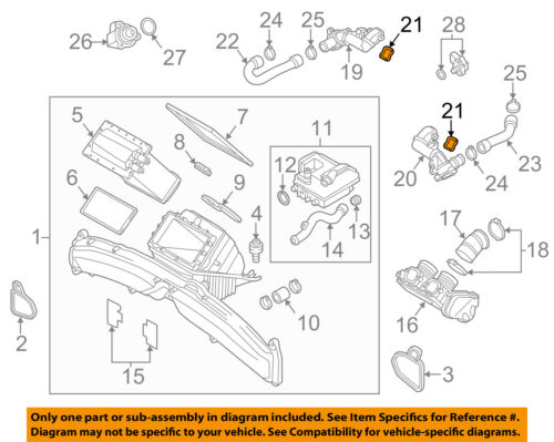Details about AUDI OEM 13-17 A8 Quattro Turbo Turbocharger  Intercooler-Adapter Seal 079145417B