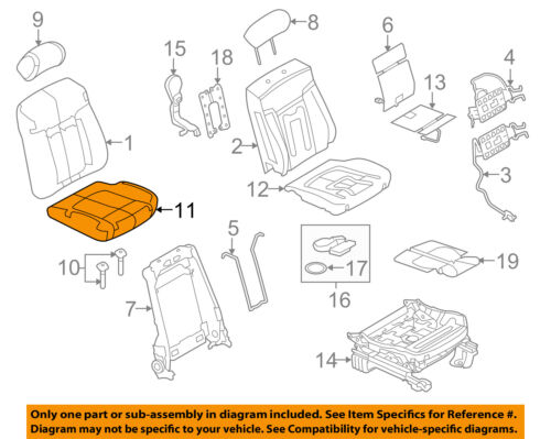 FORD OEM 11-14 F-150 Front Seat-Cushion Bottom Cover Left DL3Z1562901CB