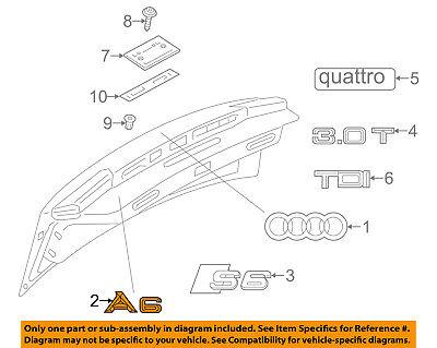 AUDI OEM 05-18 A6 Quattro Trunk Lid-Emblem Badge Nameplate 4F08537412ZZ