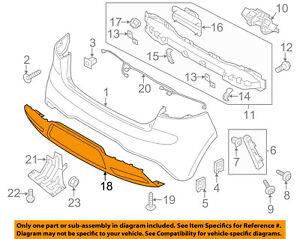 KIA OEM 12-15 Rio Rear Bumper-Lower Cover 866121W210