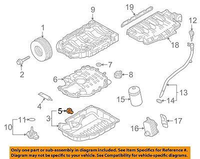 AUDI OEM 02-12 A4 Quattro Engine Parts-Drain Plug N90813202