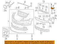 Front Genuine GM 25734409 Grille Support Bracket