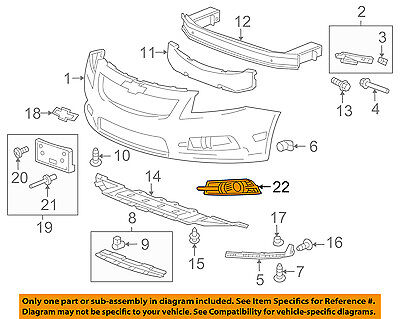 Chevrolet GM OEM 11-14 Cruze Front Bumper Grille-Trim Cover Right 95980707