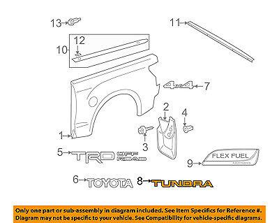 TOYOTA OEM 07-13 Tundra Bed / Fender-Emblem Badge Nameplate 754710C050