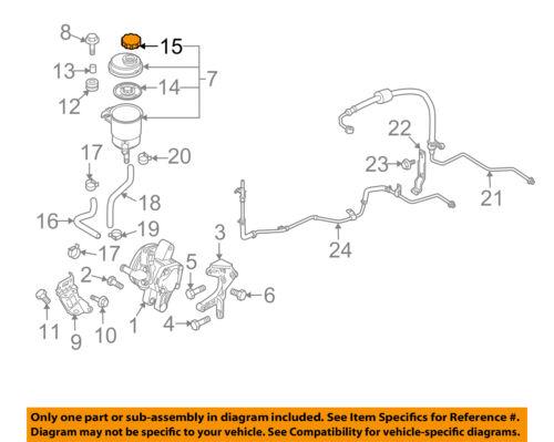 KIA OEM 04-09 Spectra Power Steering Pump-Reservoir Tank Cap 5715334003