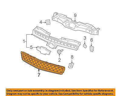 Chevrolet GM OEM 07-14 Suburban 1500-Grille-Lower 15835084