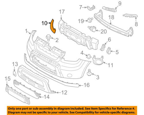 KIA OEM 10-11 Soul-Bumper Trim-Molding Trim Left 865632K050