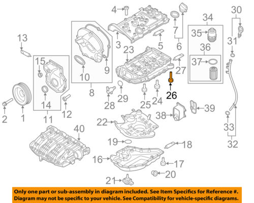 Vw Volkswagen Oem 1317 Beetle Engine Partsupper Oil Pan Bolt Rhebay: Vw Oem Parts Diagram At Cicentre.net
