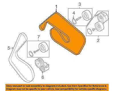 AUDI OEM 09-11 A6 Quattro-Serpentine Drive Fan Belt 06E903137N