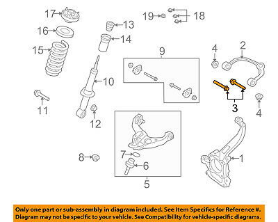 Upper Bolt - FORD OEM Front Suspension-Upper Control Arm Bolt W707841S439