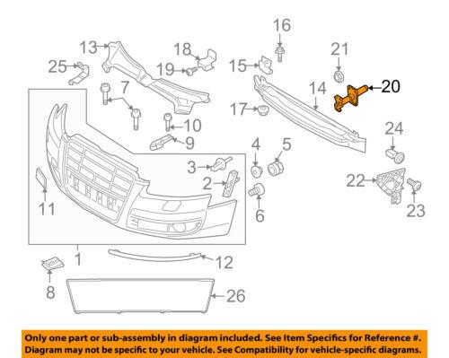 AUDI OEM A6 Quattro Front Bumper-Foam Impact Absorber Bar Rebar Right