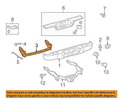 TOYOTA OEM 07-13 Tundra Rear Bumper-Reinforcement 520230C120
