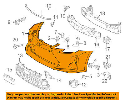 Scion TOYOTA OEM 14-16 tC-Bumper Cover 5211921923