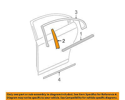 GM OEM Exterior-Rear-Applique Window Trim Left 21995355