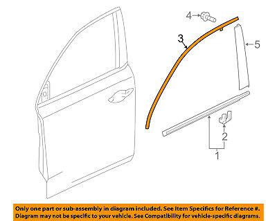 Acura HONDA OEM 14-17 MDX Front Door-Window Molding Left 72465TZ5A01