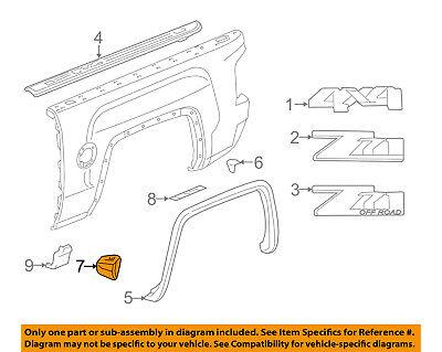 GMC GM OEM 14-18 Sierra 1500 Pick Up Box Bed-Deflector Left 84124456