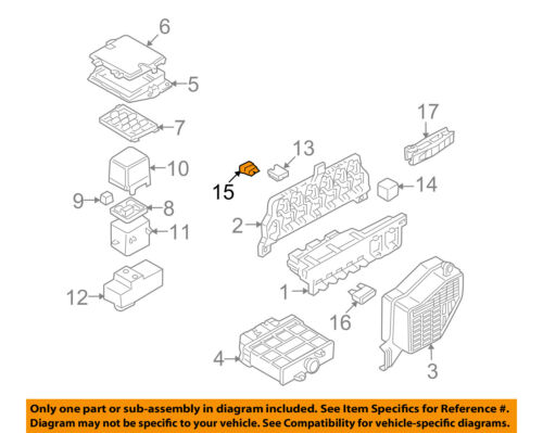 Vw Volkswagen Oem 05 14 Jetta 2 5l L5 Fuse N01713114 Ebay