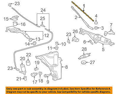 AUDI OEM 13-16 allroad Wiper Washer-Windshield-Blade Right 8K1998002A