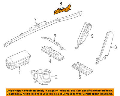 AUDI OEM 15 17 A3 Head Air Bag Guide Right 8V5880756