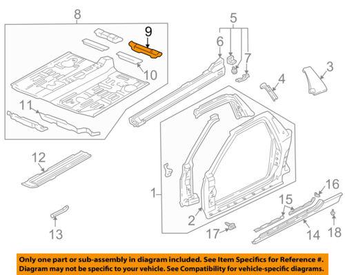 Honda Genuine 65750-T2A-A00ZZ Floor Crossmember
