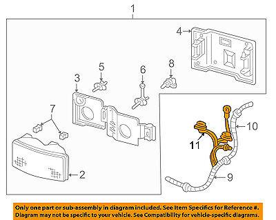 GM OEM-Headlight Headlamp Socket 12101898